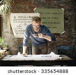 businessman determine ideas... | Shutterstock . vector #335654888