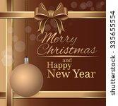 beige festive background for... | Shutterstock .eps vector #335655554