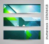 set of banners  technology art... | Shutterstock . vector #335656418