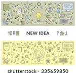 line design concept web banner... | Shutterstock .eps vector #335659850