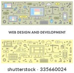 line design concept banner for... | Shutterstock .eps vector #335660024