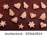 homemade lovely gingerbreads  ... | Shutterstock . vector #335662814