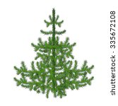 fir tree illustration | Shutterstock . vector #335672108