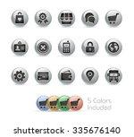 online store icons    metal... | Shutterstock .eps vector #335676140