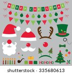 christmas photo booth and... | Shutterstock .eps vector #335680613