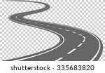 Curved Road With White Marking...