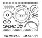 chains set   parts and circles... | Shutterstock .eps vector #335687894