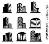 buildings icons vector | Shutterstock .eps vector #335690768