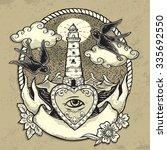 illustration of lighthouse | Shutterstock .eps vector #335692550