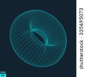 torus. molecular lattice.... | Shutterstock .eps vector #335695073