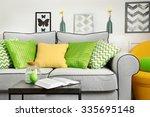 modern living room interior | Shutterstock . vector #335695148
