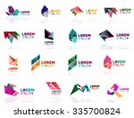 geometric shapes company logo... | Shutterstock .eps vector #335700824