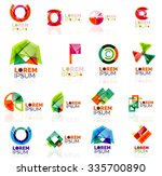 geometric shapes company logo... | Shutterstock .eps vector #335700890