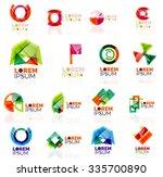 geometric shapes company logo... | Shutterstock .eps vector #335700890