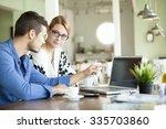 business urban people indoor on ...   Shutterstock . vector #335703860