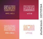 vector set of logo design... | Shutterstock .eps vector #335705564