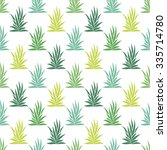 seamless pattern with tropical  ... | Shutterstock .eps vector #335714780