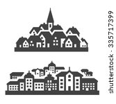 city  town icons set. signs and ... | Shutterstock .eps vector #335717399