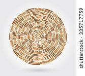 abstract decorative wooden... | Shutterstock .eps vector #335717759