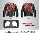 red and black tracksuit design... | Shutterstock .eps vector #335720084