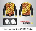 yellow and black tracksuit... | Shutterstock .eps vector #335720144