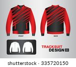 red tracksuit design vector... | Shutterstock .eps vector #335720150