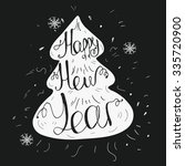 vector card with happy new year ... | Shutterstock .eps vector #335720900