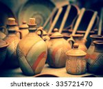 Pottery Jar And Coffee Kettles...