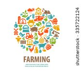farm vector logo design... | Shutterstock .eps vector #335722124