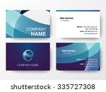 glossy logo design on business... | Shutterstock .eps vector #335727308