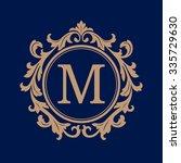 elegant monogram design... | Shutterstock . vector #335729630