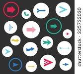 set of arrow vector signs