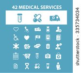 medicine research  medical... | Shutterstock .eps vector #335734034