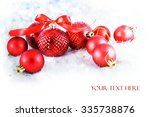 christmas background with red...   Shutterstock . vector #335738876
