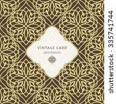 vintage ornate card in eastern... | Shutterstock .eps vector #335741744