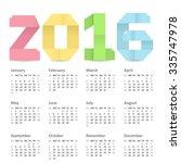 vector calendar of 2016 year... | Shutterstock .eps vector #335747978