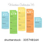 vector calendar of 2016 year... | Shutterstock .eps vector #335748164