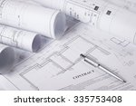 architectural blueprints and... | Shutterstock . vector #335753408