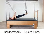pilates aerobic instructor... | Shutterstock . vector #335753426