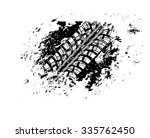 tire track vector background | Shutterstock .eps vector #335762450