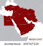middle east map | Shutterstock .eps vector #335767124