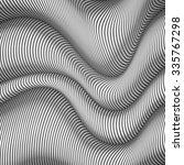 black and white wavy stripes...   Shutterstock .eps vector #335767298