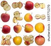 autumn apples. | Shutterstock . vector #335771270