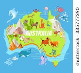 Cute Cartoon Australia...