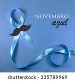 prostate cancer blue ribbon... | Shutterstock . vector #335789969