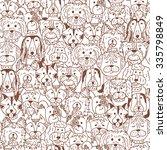 animals. dogs vector seamless...   Shutterstock .eps vector #335798849