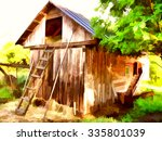 A Hayloft. Farm. Russian...