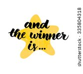 and the winner is. giveaway... | Shutterstock .eps vector #335804318