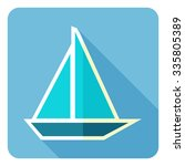 ship yacht. flat design. vector ... | Shutterstock .eps vector #335805389