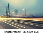 high voltage post.high voltage... | Shutterstock . vector #335825168